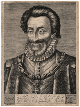 HENDRIK GOLTZIUS, Mulbracht 1558 – 1616 Haarlem. Henri IV, King of France. Original engraving, c1595-98. This engraving is for sale, priced £1250