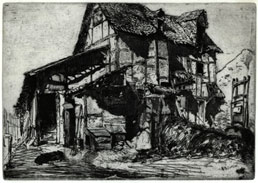 JAMES McNEILL WHISTLER, Lowell, Massachusetts 1834 – 1903 London. The Unsafe Tenement. Original etching 1859. This etching is for sale, priced £750
