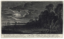 JAN VAN DE VELDE II, Rotterdam 1593 – 1641 Enkhuysen. Nox/Night. Original etching with engraving, c1622. This print is for sale, priced £1000