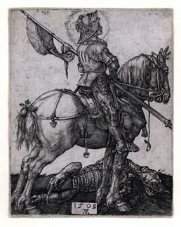 ALBRECHT DÜRER, Nuremberg 1471 – 1528 Nuremberg. St George on Horseback. Original engraving, 1505-08. This print is for sale, priced at £10,000