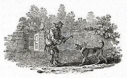 THOMAS BEWICK, Cherryburn, Mickley, Northumberland 1753 – 1828 Gateshead. A Beggars Greeting. Wood engraving, c1895.