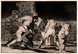 FRANCISCO GOYA y Lucentes, Fuente de Todos, Aragon 1746 – 1828 Bordeaux. Disparate cruel. Original etching with aquatint, c1815-19.